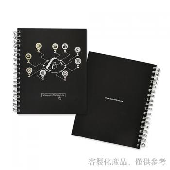 Notebook_Customized Black Card Wire-O Bound Notebook