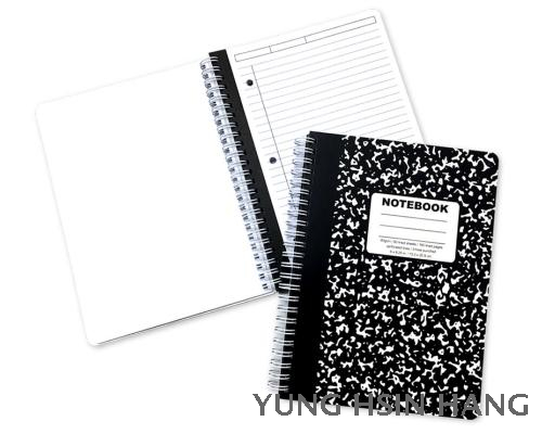 81-20WN Marble Small Wire-O Bound Notebook